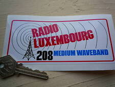 Radio Luxemburgo Clásico Auto Adhesivo después mástil Estilo autocollant Pirata Ventana