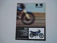 advertising Pubblicità 1972 KAWASAKI 750 H2 MACH IV