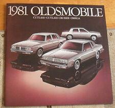 1981 Oldsmobile Cutlass Omega Dealers Brochure Catalog