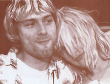 "Kurt Cobain & Courtney Love Poster Print - 1992 - 11""x14"" Sepia"