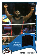 WWE Mark Henry 2014 Topps Event Used Shirt Relic Card Black DWC1