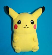 """Pokemon PIKACHU 8"""" Yellow Plush Soft New Stuffed 2012 Sewn Eyes Toy Factory"""