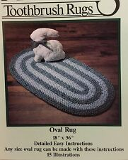 NEW Booklet AUNT PHILLY'S Oval Rug 1989 TOOTHBRUSH Rugs Sychia/Hause AP101