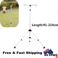 Outdoor Tripod Lantern Stand Telescopes Lamp Holder Camping Light Hanging Poles