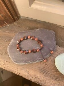 LOLA ROSE GOLD SANDSTONE AND TIGERS EYE BRACELET - BRAND NEW IN POUCH