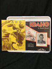 1936 & 1945 Sheet Music Idaho 1936 Rusty Gill & Alvino Rey