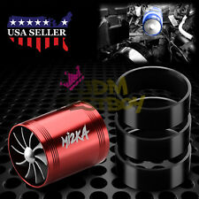 "Mi2KA Turbine Air Intake Fuel Gas Saver Double Fan System Turbo 2.5""-3.0"" Red"