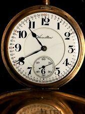* 1918 Hamilton Rail Road 992 21 Jewel Pocket Watch Original Box *