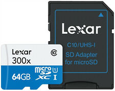 Lexar High Performance microSDXC 300 X 64gb Uhs-i Card With SD Adapter - Lsdmi64