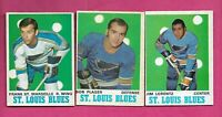1970-71 OPC BLUES LORENTZ RC + PLAGER + ST MARSEILLE   EX-MT  CARD (INV# C6037)