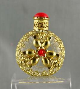 VINTAGE CZECHOSLOVAKIA CAGED PURSE PERFUME BOTTLE--1920s