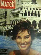 PARIS MATCH N° 0440 ANTONELLA LUALDI  2 CV VESPA CHARLIE CHAPLIN 1957