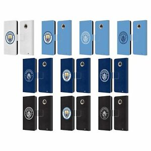 MANCHESTER CITY MAN CITY FC BADGE LEATHER BOOK WALLET CASE FOR MOTOROLA PHONES
