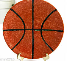 """PRE-OWNED POTTERY BARN """"GAME PLAN – BASKETBALL"""" SNACK PLATE"""