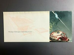 1955 VW Full Line Showroom Advertising Sales Brochure RARE!! Awesome L@@K