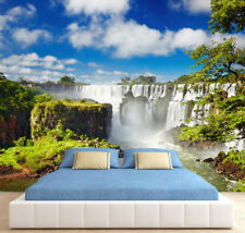 Waterfall Nature Rainbow Tree Sky Photo Wallpaper Wall Mural Home Bedroom Deco