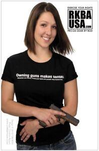 """* LOT OF 10 * RKBA Girls Guns 11x17 Gun Shop Poster """"Owning Guns Makes Sense"""" 2A"""