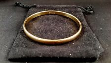 Monet Vintage Gold Bangle Bracelet