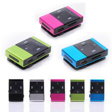 Mini USB Clip Digital Brand New Mp3 Music Player Support 8GB SD TF Card Hot Pink
