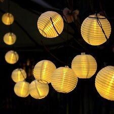 20 Led Solar Lampion Lichterkette Garten Kette Party Laterne Lichter Garten
