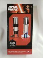 Disney Star Wars Lightsaber Salt & Pepper Grinders Darth Vader Anakin NEW TESTED