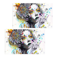 2PCS Canvas Oil Painting Wall Art Picture Hanging Poster Home Decor - Girl