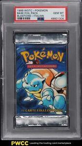 1999 Pokemon Italian Base Set Booster Pack Blastoise PSA 10 GEM MINT