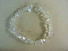 QUARTZ CRYSTAL FACETED  BEAD STRAND 16 IN.      NEW OLD STOCK