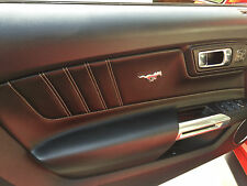 Ford Mustang Interior Door Panel Pony Emblem Set Pair Chrome 2015 2017 05 09