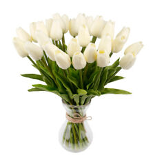 10PCS Tulip Rose Artificial Flower Latex Real Touch Wedding Bouquet Home Decor