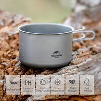 Naturehike Titanium Pot Cup Mug with Folding Handle Camping Cookware Cooking Cup
