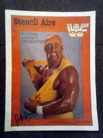 WWF 1980's Official  rare magazine souvenir WWE Stencil Art The Simpsons Zelda +