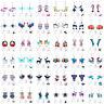 Lot Animal Cartoon Acrylic Drop Dangle Earrings 925 Silver Hook Jewelry Women