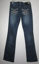Womens C3 by Vault Denim Jeans - Size 1  Bling Pockets Flaw Missing rhinestones