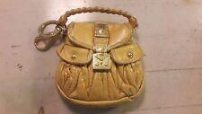 52854eece223 Very Rare Cute Miu Miu Limited Edition Yellow Coffer Microbag   bag charm