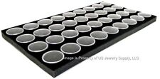1 Black 36 Jar with Lid Liner insert Use for Gems Coins Body Jewlery Display