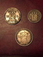Rijksdaalder 2½ gulden 1844 - Rijksdaalder 2½ gulden 1943 - 1 Gulden 1896 Repl.