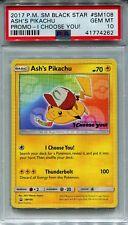 Pokemon #SM108 Ash's Pikachu Black Star Promo Movie Card I Choose You! PSA 10!