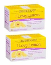 Bigelow I Love Lemon Herbal Tea Bags 2 Box Pack