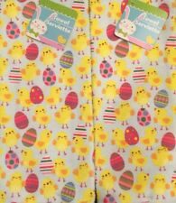 New Set Of 2 Microfiber Easter Yellow Spring Baby Chicks Dish Towels Cloths
