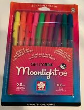Sakura 58176 Gelly Roll Moonlight 06 Fine Point Gel Ink 10 Color Pen Set New