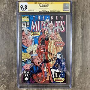 Marvel Comics New Mutants 98 CGC SS 9.8 Liefeld Signed Deadpool First Appearance