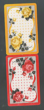 Playing Swap Cards 2 VINT  ROSE FLOWERS  SPRAY OF RED & YELLOW ROSES #243