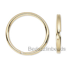 Lot of 10 Gold Plated Steel 12mm Double Ring S Style Splitring Jewelry Findings