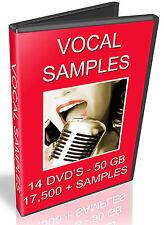 VOCAL SAMPLES - SERATO SCRATCH - TRAKTOR - CD DJ - 50GB OF VOCALS - 14 DVD'S