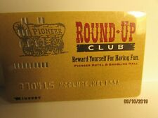 Pioneer Hotel & Gambling Hall -Round Up Club Card- old Style (punch card) -nice