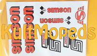 Aufkleber pass f Simson S51 E Enduro Schriftzug Bananen-tank rot Kleber IFA
