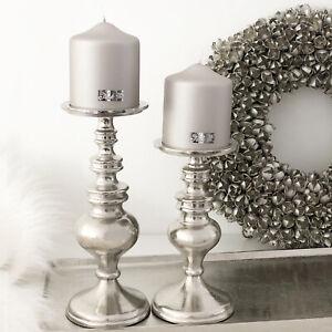 Kerzenständer Kerzenhalter silber Alu Raw Nickel Manresa 2 Größen