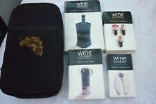Gallo Wine & Glasses Travel Bag corkscrew foil cutter bottle wrap puller stopper
