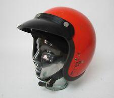 Vintage Bell RT Toptex helmet motorcycle car racing orange 7 1/2 /w visor